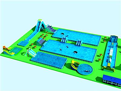 正方形支架水池